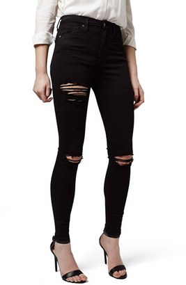 Women's Topshop Destroyed High Rise Ankle Skinny Jeans $80 thestylecure.com