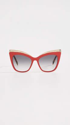 Moschino Chain Cat Eye Sunglasses
