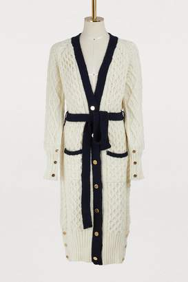 Thom Browne Wool and mohair maxi cardigan