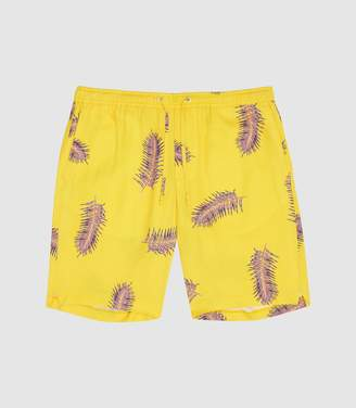 Reiss Paulie - Floral Casual Shorts in Yellow