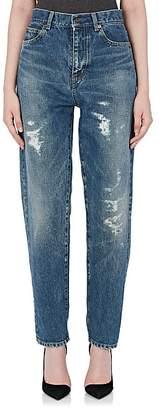 Saint Laurent Women's Destroyed Boyfriend Jeans
