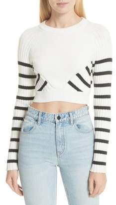 Alexander Wang Multistripe Crop Sweater