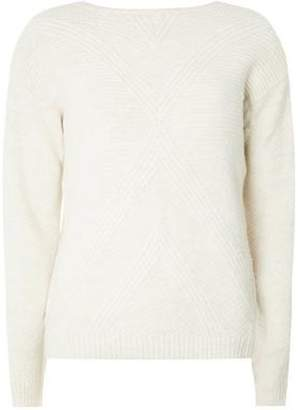 Dorothy Perkins Womens Oatmeal Stitch Front Jumper