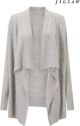 Next Womens Jigsaw Grey Drape Front Cardigan