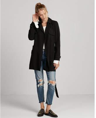 Express soft self-tie waist trench coat