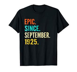 93th Birthday Gift Epic Since September 1925 93 Years Shirt