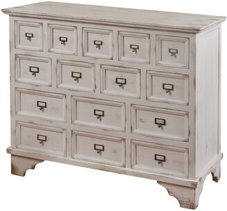 Stylecraft Style Craft Shabby Chic 15 Drawer Apothecary Cabinet