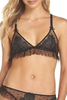 Honeydew Intimates Honeydew Dot Mesh Ruffle Bralette