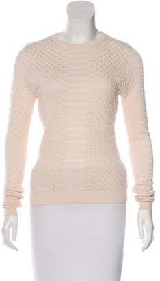 Karen Millen Textured Crew Neck Sweater $80 thestylecure.com