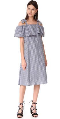 MLM LABEL Tobin Ruffle Midi Dress $198 thestylecure.com