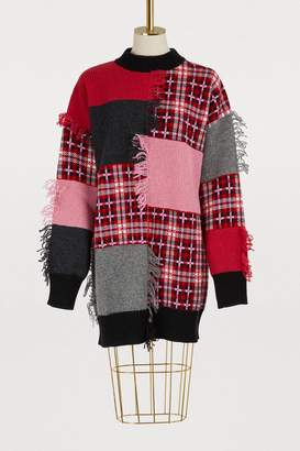 MSGM Wool patchwork sweater