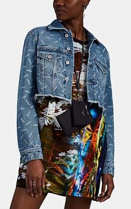 """Heron Preston Women's """"Style"""" Denim Crop Jacket - Blue"""