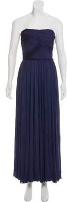 J. Mendel Strapless Midi Dress Strapless Midi Dress