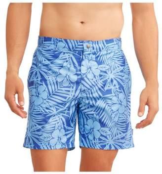 Trunks Ocean Gear Big Men's Leaf Print Swin Trunk