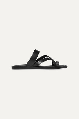 Common Projects Leather Sandals - Black