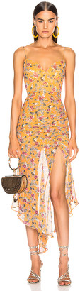 Nicholas Drawstring Dress in Honey Multi | FWRD