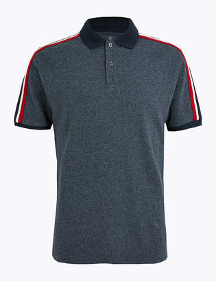 Marks and Spencer Cotton Striped Polo