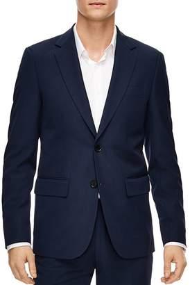 Sandro Blue Virgin Wool Slim Fit Sport Coat