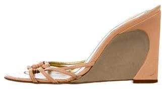Fendi Leather Wedge Sandals
