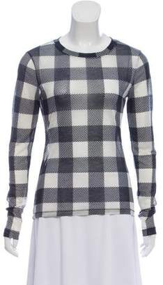 Rag & Bone Gingham Print Long Sleeve T-Shirt