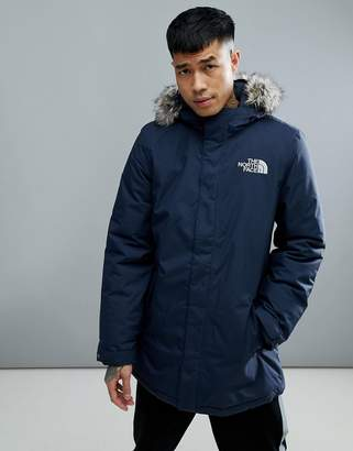 The North Face Zaneck Detachable Faux Fur Hood Jacket In Navy