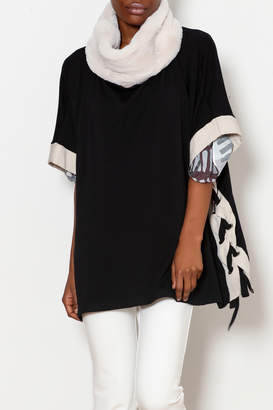 Capote Side Lace up Poncho