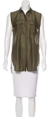 Helmut Lang Sleeveless Button-Up Top w/ Tags