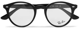Ray-Ban Round-Frame Acetate Optical Glasses - Men - Black