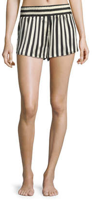Morgan Lane Corey Striped Silk Pajama Shorts