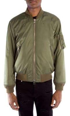 Alexander McQueen Rose Lined Bomber Jacket