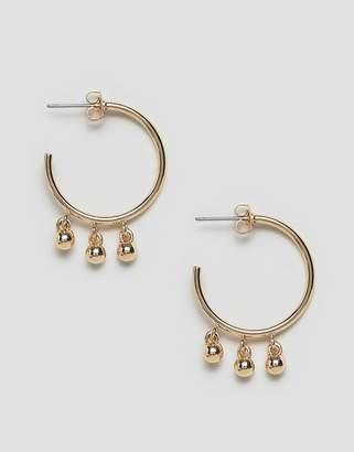 Whistles multi sphere detail hoop earring