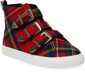 Burberry Printed Leather Low Top Sneaker