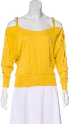 Dolce & Gabbana Cold-Shoulder Long Sleeve Blouse w/ Tags