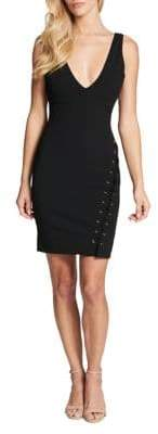 GUESS Plunging Bodycon Dress