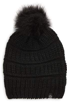 Treasure & Bond Faux Fur Pom Beanie