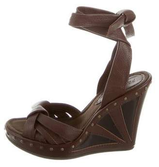 Fendi Studded Wedge Sandals