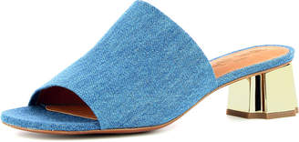 Robert Clergerie Lamo Denim Slide Mule, Blue