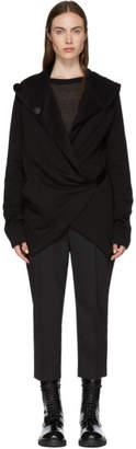 Ann Demeulemeester SSENSE Exclusive Black Wrap Hoodie
