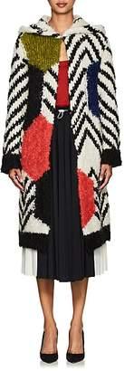 Valentino WOMEN'S MOHAIR-BLEND HOODED SWEATER COAT
