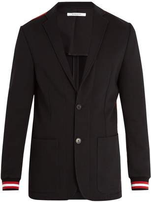 Givenchy Ribbed-cuff single-breasted blazer