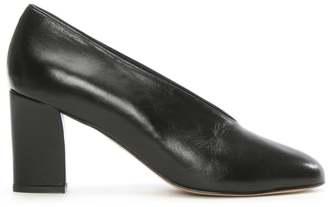 Daniel Aneso Black Leather V Front Court Shoe