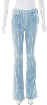 Frame Mid-Rise Striped Jeans
