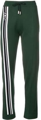 Gcds logo stripe sports trousers