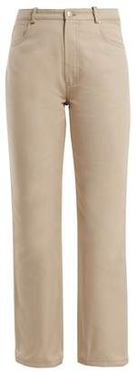 J.W.Anderson Contrast Pocket Straight Leg Cotton Jeans - Womens - Ivory