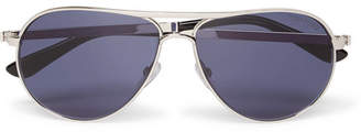 Tom Ford Marko Aviator-Style Silver-Tone Sunglasses