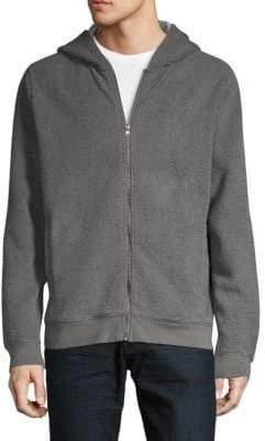Saks Fifth Avenue Hooded Faux Shearling Jacket