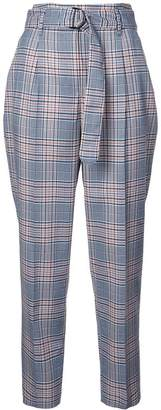Akris Punto checked high waisted trousers