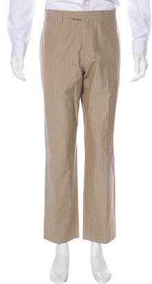 Hermes Striped Flat Front Pants