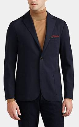 Eleventy Men's Stretch-Cotton Twill Two-Button Sportcoat - Navy