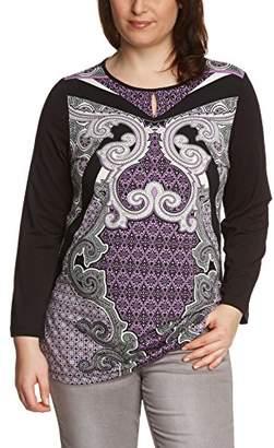Via Appia Women's Boat Neck Long Sleeve T-Shirt - Purple